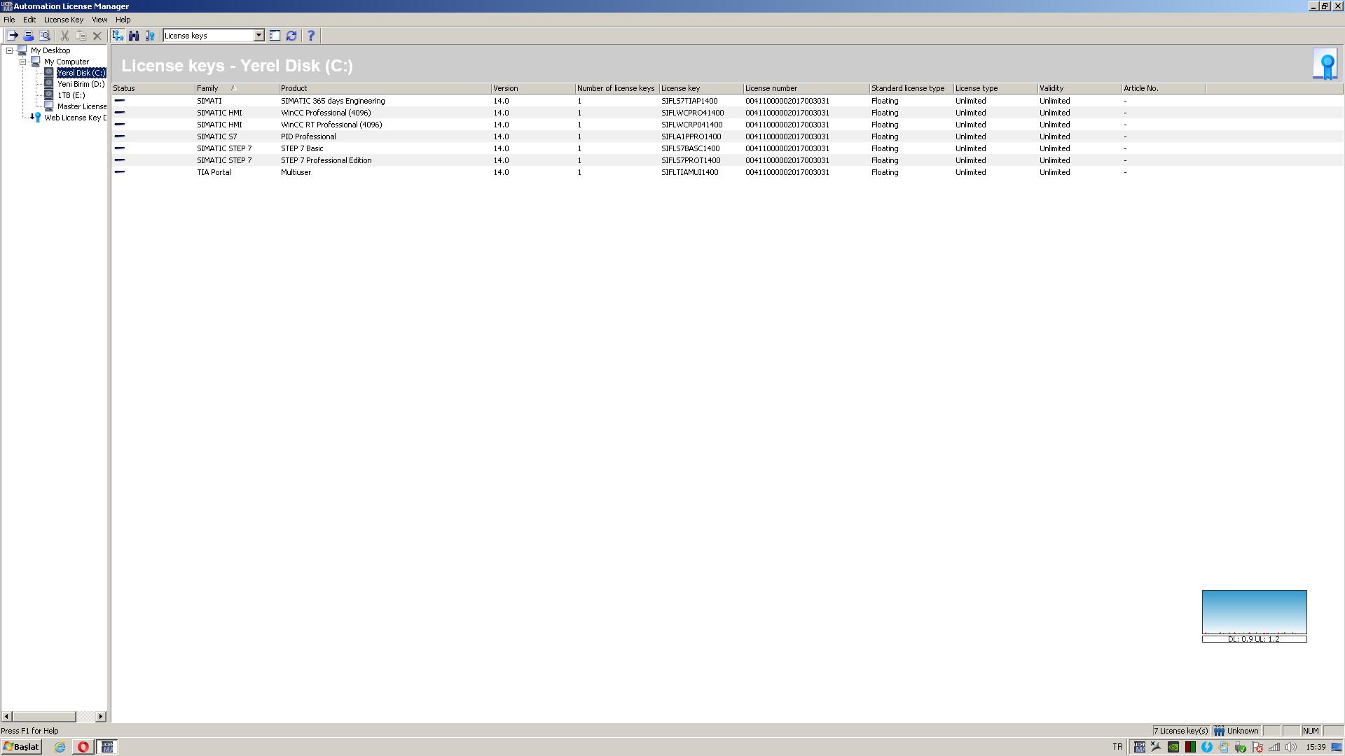 TİA PORTAL V14 Wincc runtime professional buton aktif olmuyor