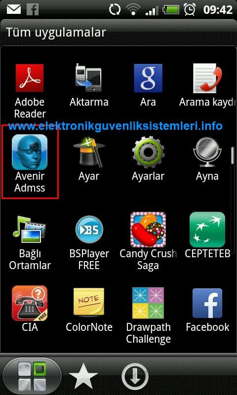 1. Play store den xmeye uygulamasını cep telefonumuza indiriyoruz ve program üzerine tıklanılır